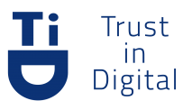 Trust In Digital Logo Azul